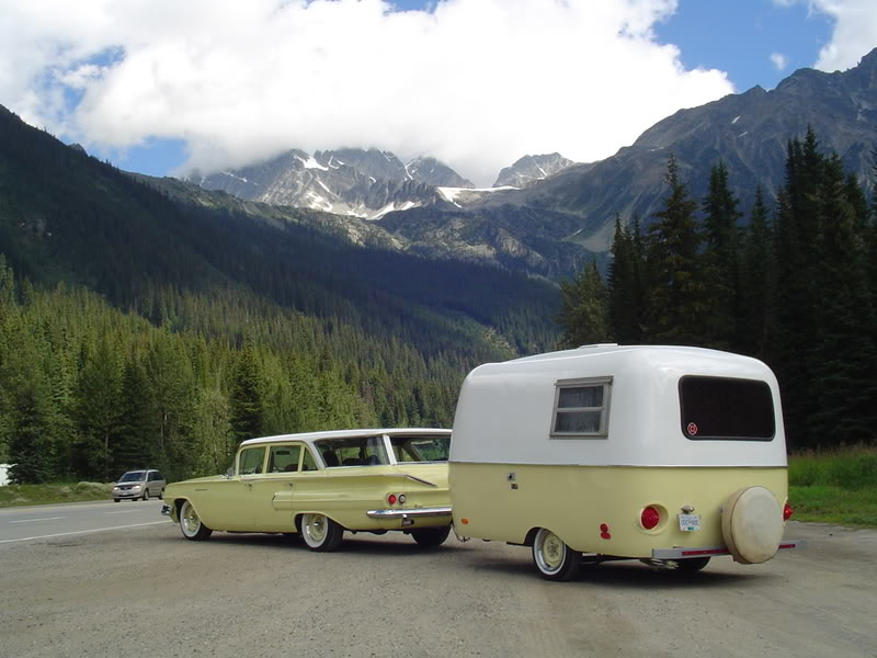 1968 Yellow Boler Fiberglass Travel Trailer
