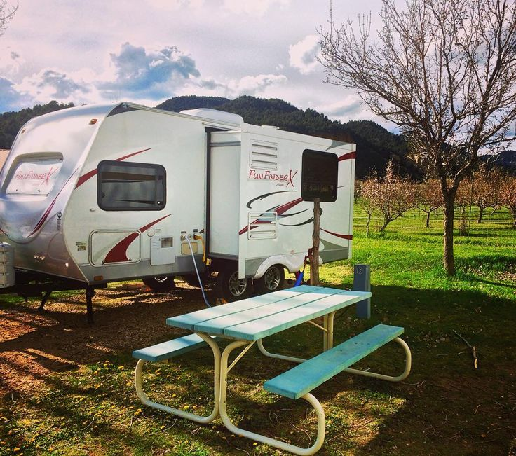 RV camping in a small town