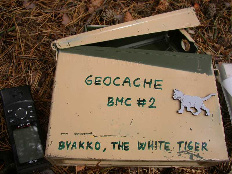 geocached finding