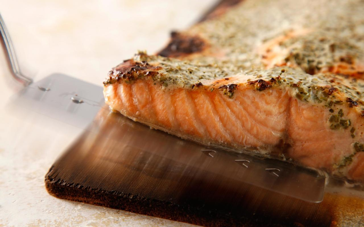 cedar planked salmon rv cooking
