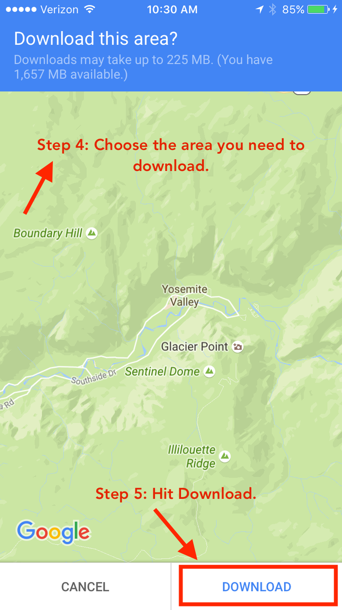 how to download maps