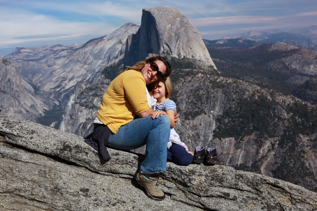 Me and Alice hugging at Half Dome. Photo by Michael Skrzypek.