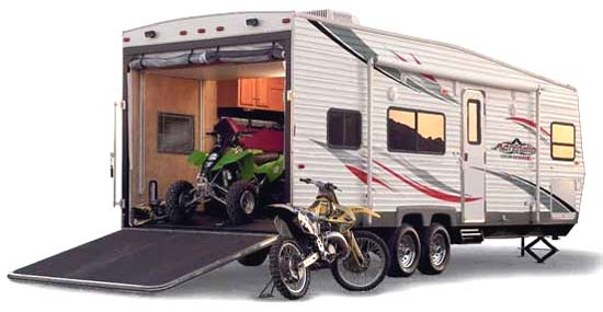 toy hauler with bikes