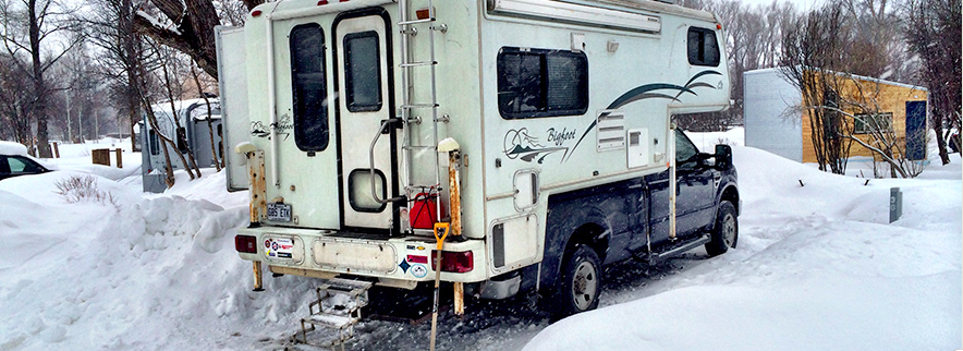 Winter RVing at the Jackson Hole Campground