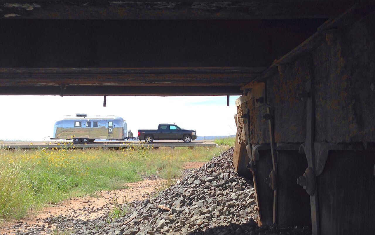 Cross-country road trip in Lucy the 1964 Airstream Overlander.