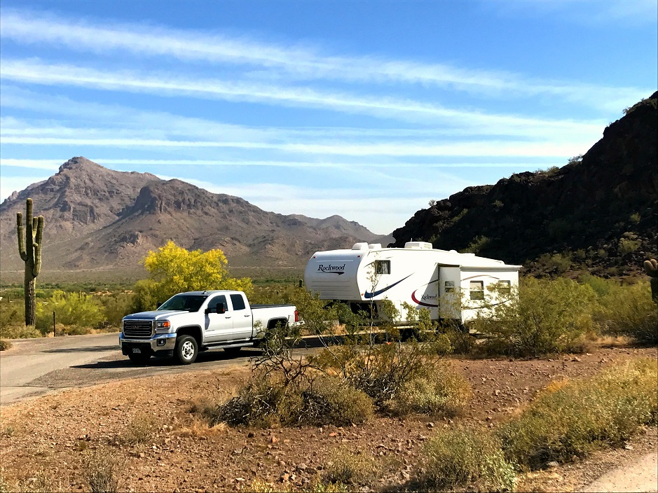 Fifth wheel at Picacho Peak State Park Arizona