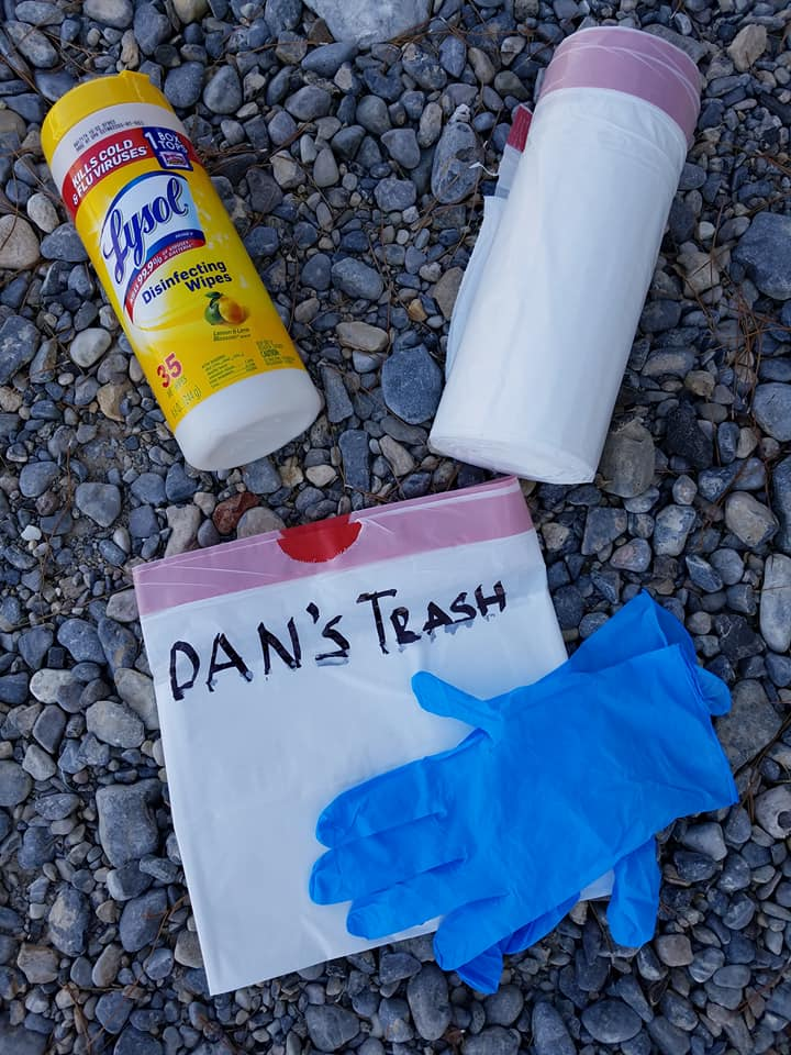 Trash Pickup Supplies for Camping Activities