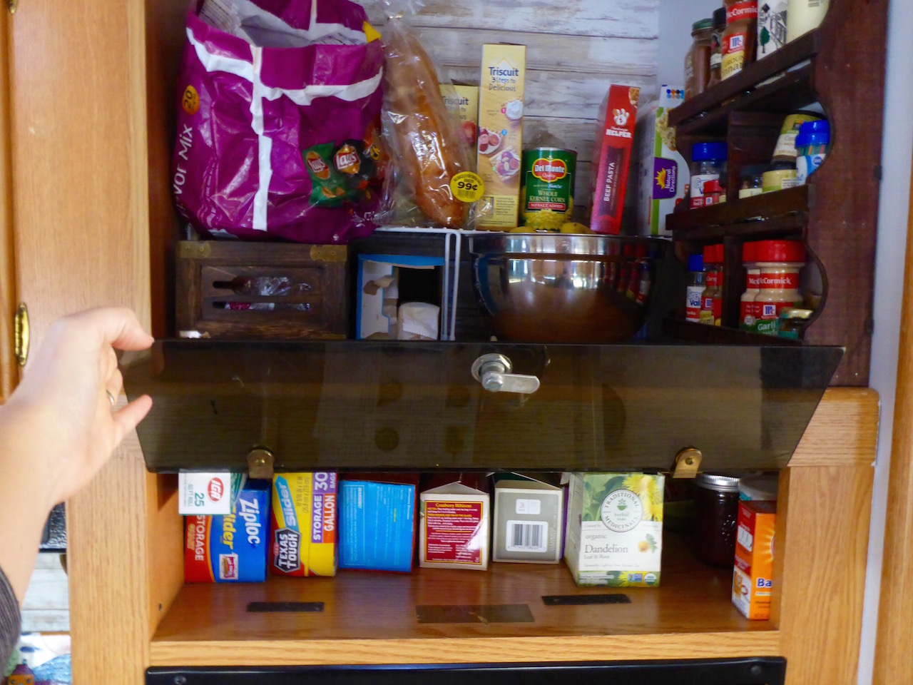 finding pantry space around an rv