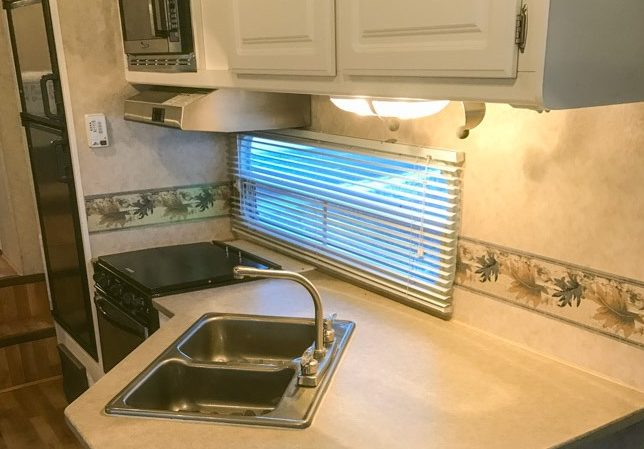 RV remodel kitchen