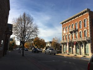 Decorah, Iowa downtown with museum