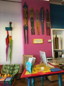 Colorful walls and art at StoryPeople