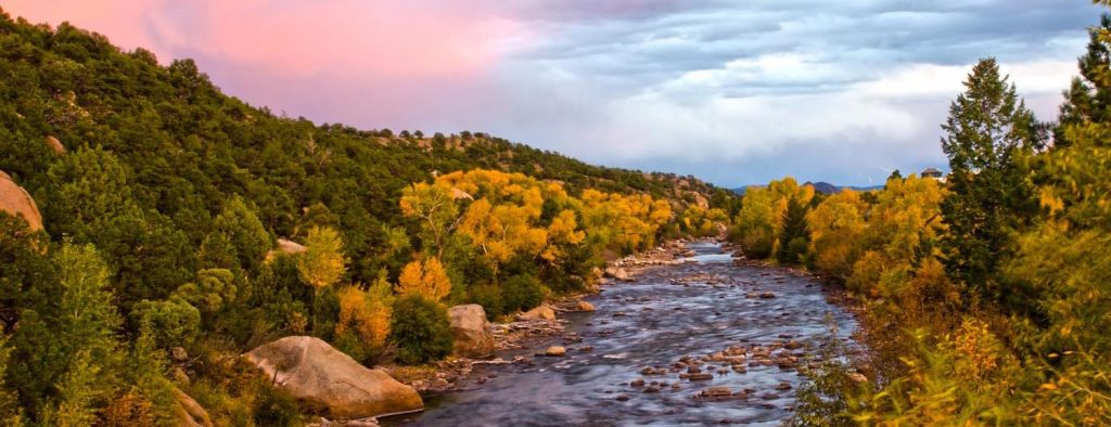 Photo Tripping America - Alpenglo at Dusk over the Arkansas River - Colorado Rockies - Outdoorsy