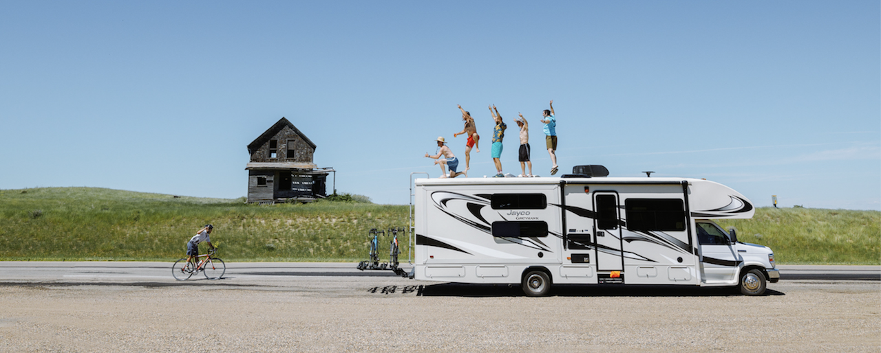 Photographer Taylor Burk Cycled Across Canada With An Outdoorsy RV