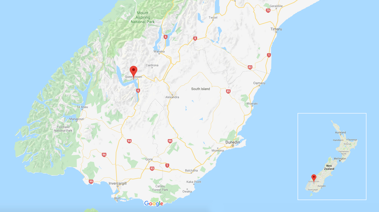 New Zealand Map Google.48 Hours The South Island Of New Zealand Never Idle Journal