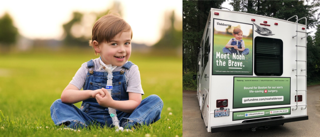 """Noah the Brave"" Receives RV to Make Trip To Life-Saving Heart Surgery"