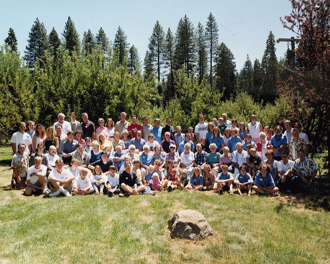 family reunion campout group picture