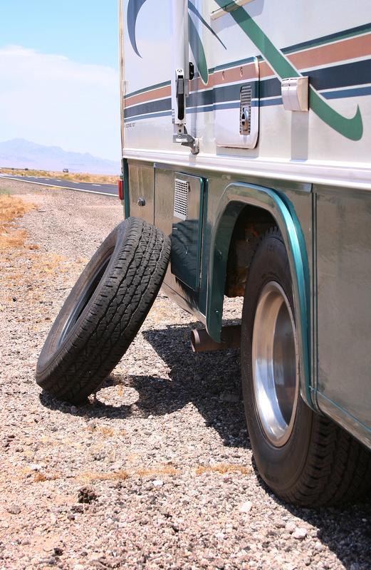 RV flat tire