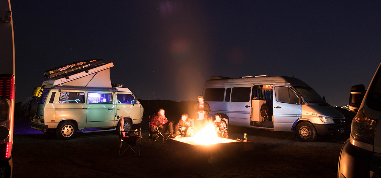campervans and campfire