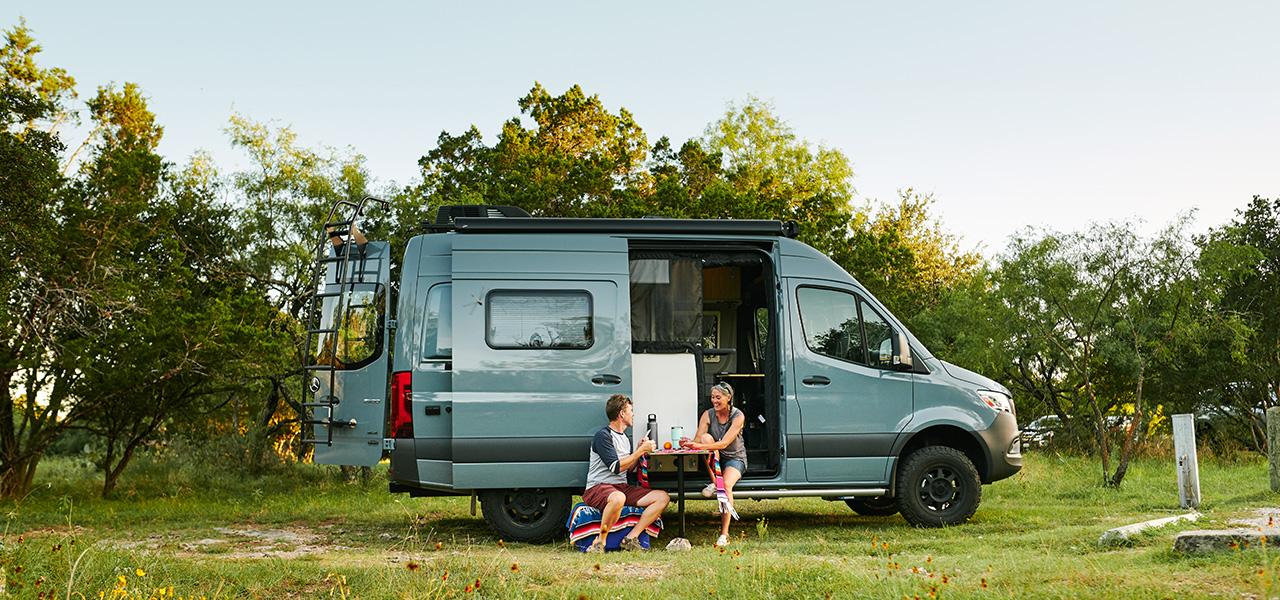 campervan at campsite