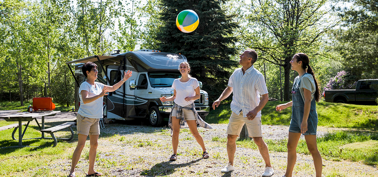 outdoor recreation with RV