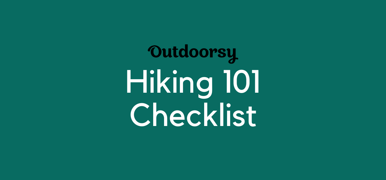 Hiking 101 Checklist