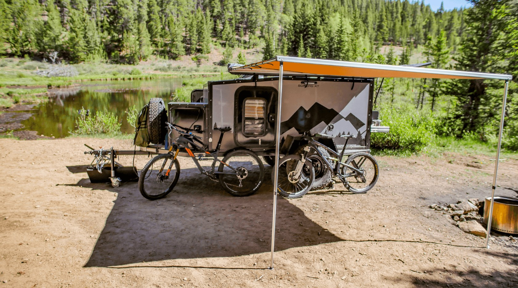 Camping in an off road camper trailer