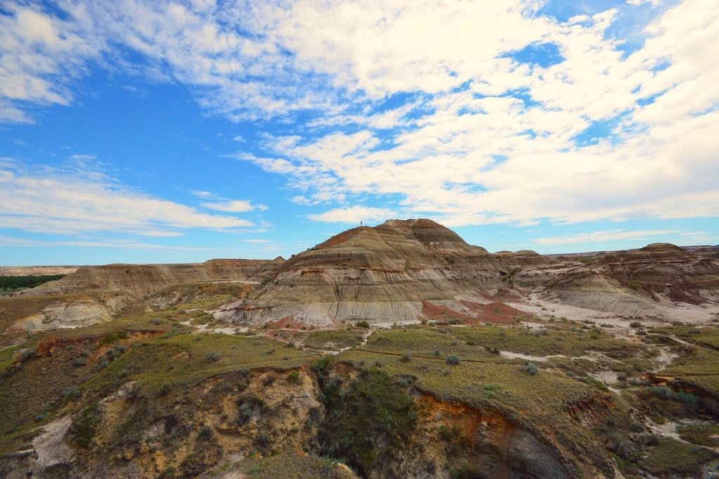Mountain in the Alberta Badlands, Dinosaur Provincial Park. Canadian destinations for family summer vacations