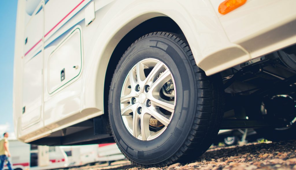New RV Tires For RV Camper Van. Taking Care of Motorhome and Travel Trailer Tires.