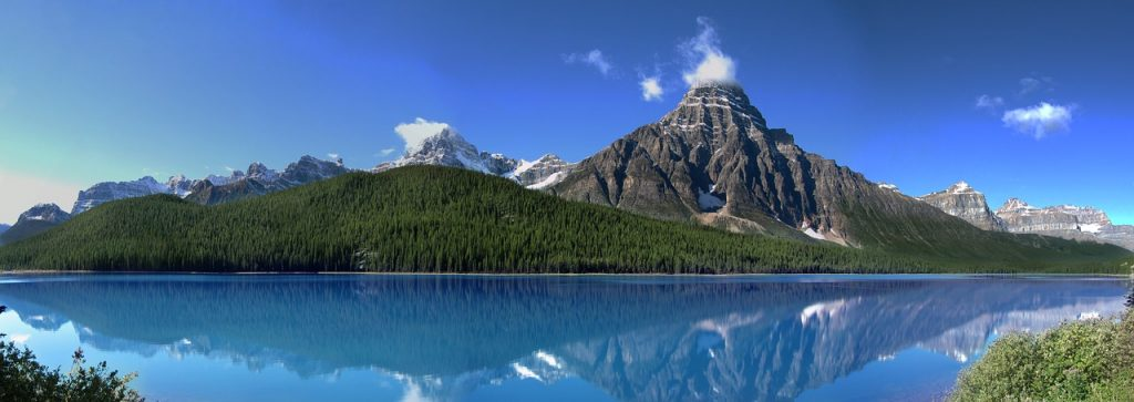 Canada by RV. Canadian Rocky Mountains. Jasper National Park.